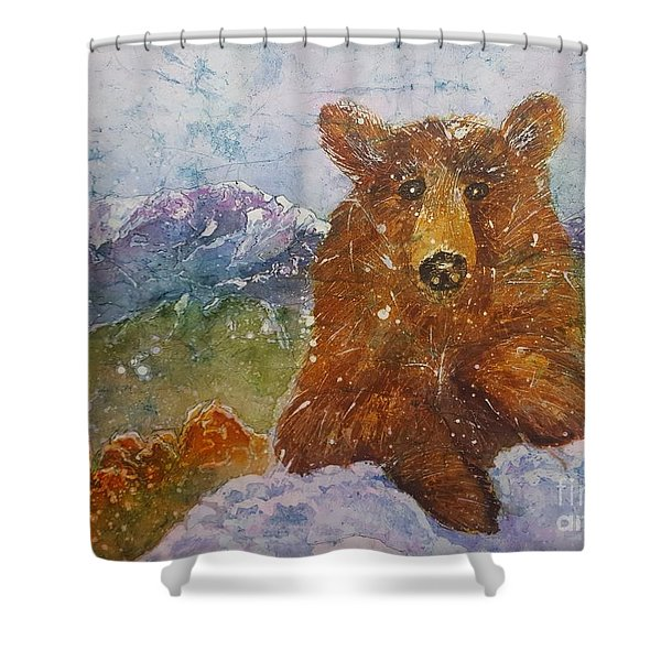 Teddy Wakes Up In The Most Desireable City In The Nation Shower Curtain