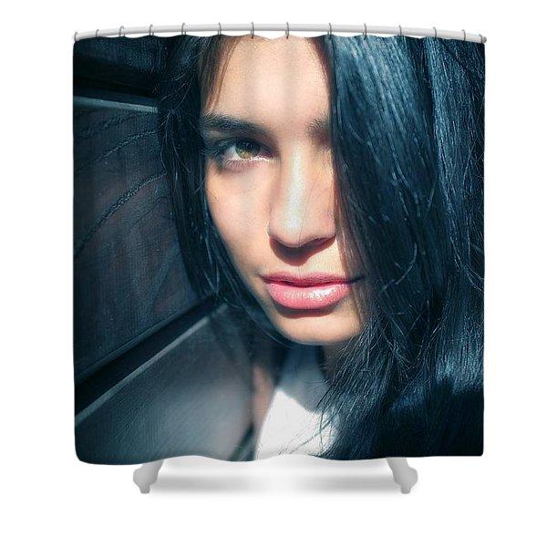 Teen Portrait Shower Curtain