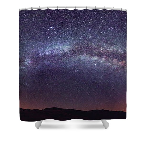 Teide Milky Way Shower Curtain