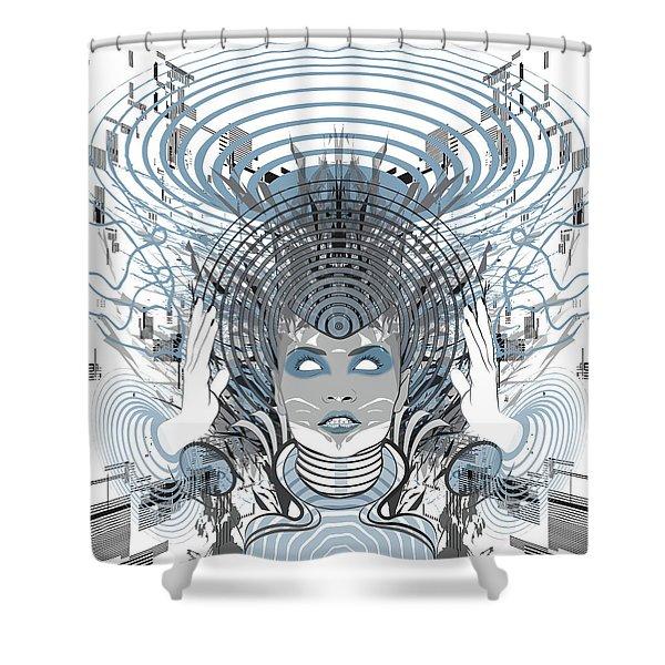 Telepathy Shower Curtain