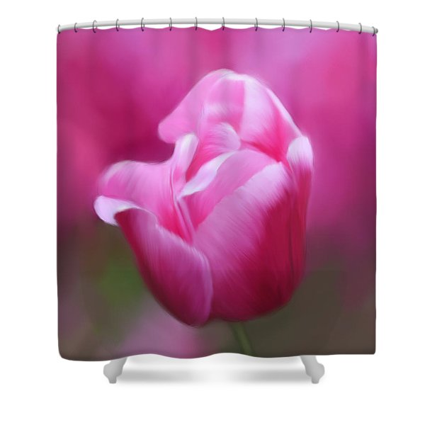 Tell Your Heart To Beat Again - Flower Art Shower Curtain