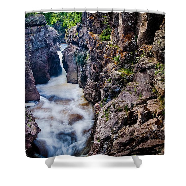Temperance River Gorge Shower Curtain