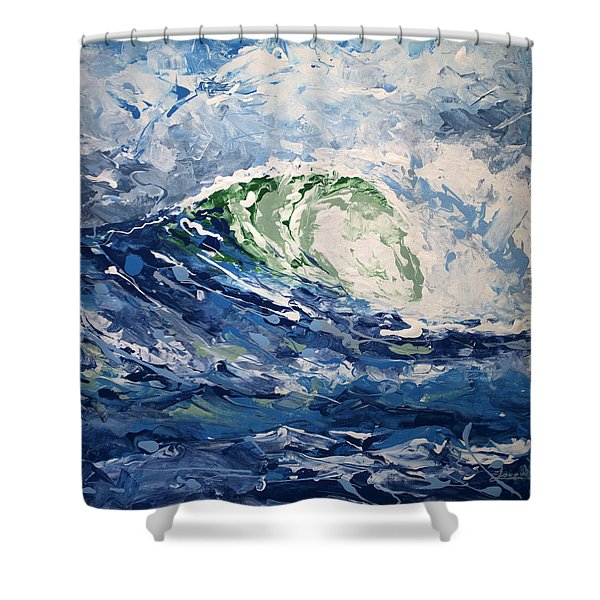 Tempest Abstract Shower Curtain