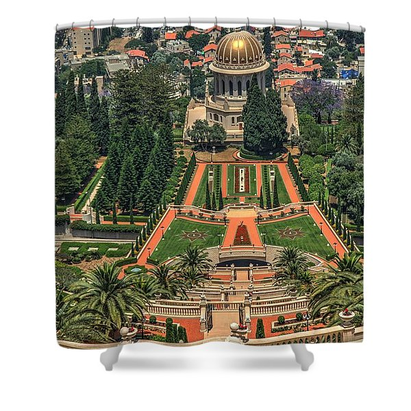 Temple 3 Shower Curtain