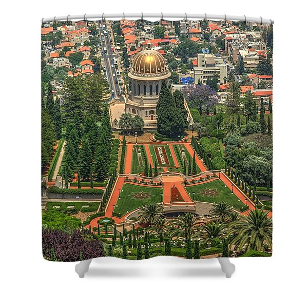 Temple 5 Shower Curtain