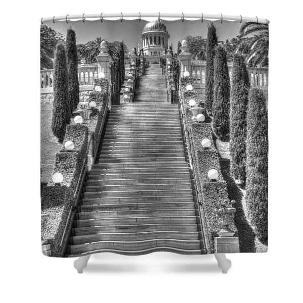 Temple Bw 2 Shower Curtain