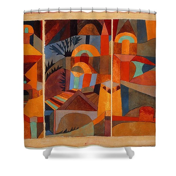 Temple Gardens Shower Curtain