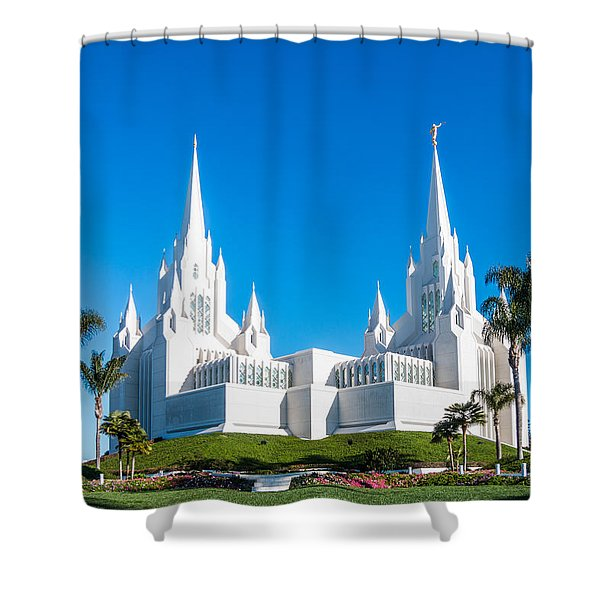Temple Glow Shower Curtain