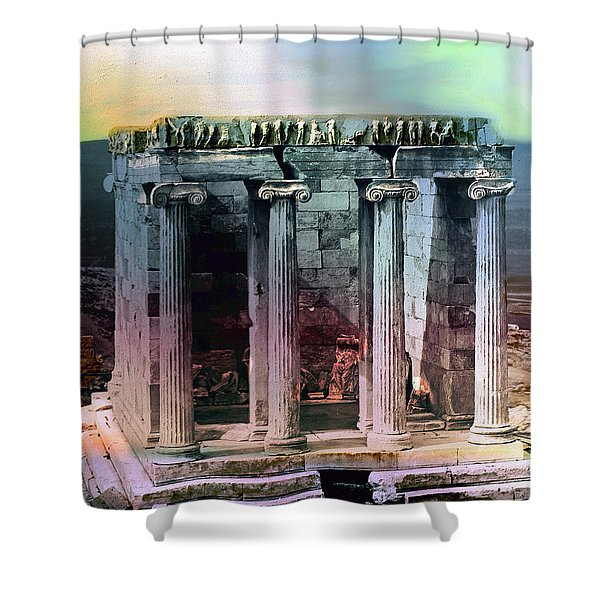 Temple Of Athena Shower Curtain