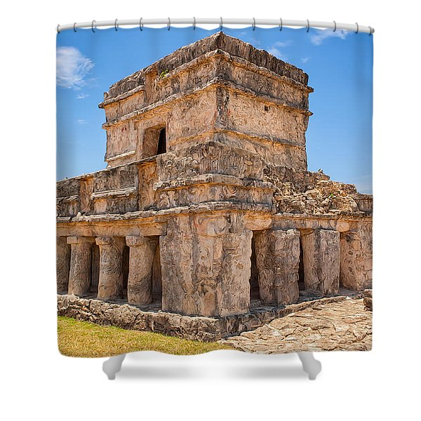 Temple Of The Frescos Shower Curtain