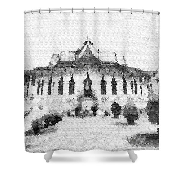 Temple To The Buddha Shower Curtain