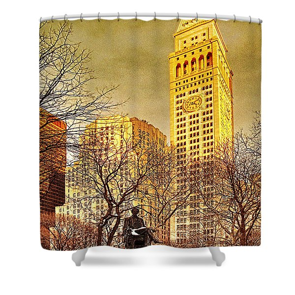 Ten Past Four At Madison Square Park Shower Curtain