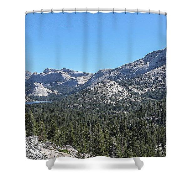 Tenaya Lake And Surrounding Mountains Yosemite National Park Shower Curtain