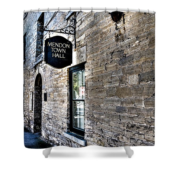 Mendon Town Hall Shower Curtain