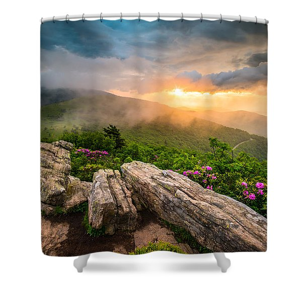 Tennessee Appalachian Mountains Sunset Scenic Landscape Photography Shower Curtain