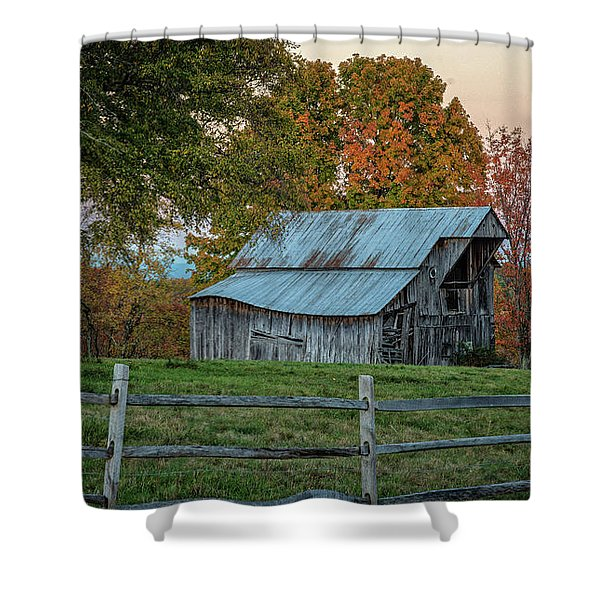 Tennessee Barn Shower Curtain