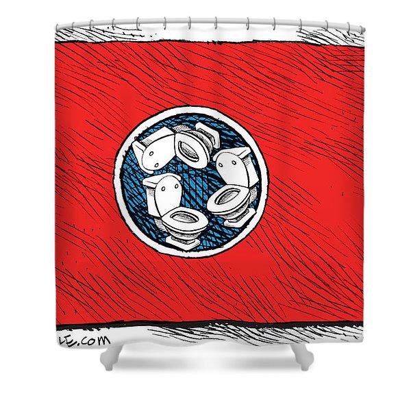 Tennessee Bathroom Flag Shower Curtain