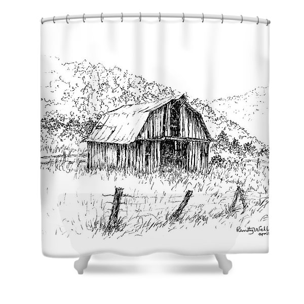 Tennessee Hills With Barn Shower Curtain