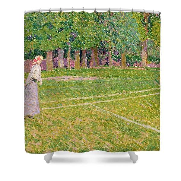 Tennis At Hertingfordbury Shower Curtain