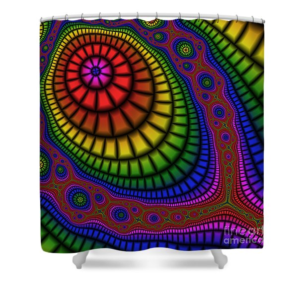 Tennis Racket 227 Shower Curtain