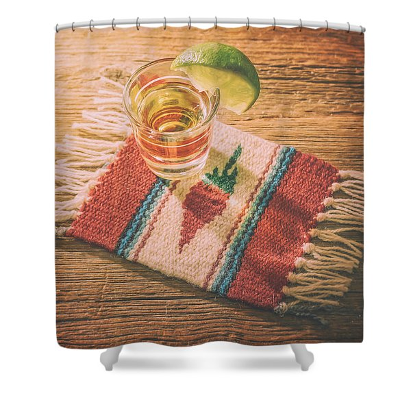Tequila For Cinco De Mayo Shower Curtain