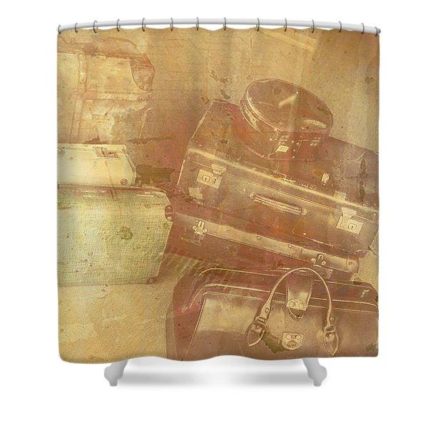 Terminal Goodbye Shower Curtain