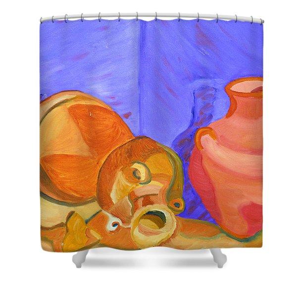 Terra Cotta Shower Curtain