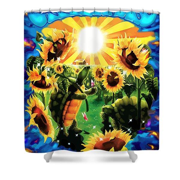 Terrapin Sun Flowers Shower Curtain