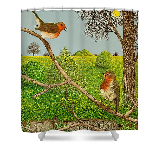 Territorial Rights Shower Curtain