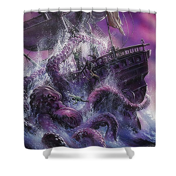 Terror From The Deep Shower Curtain