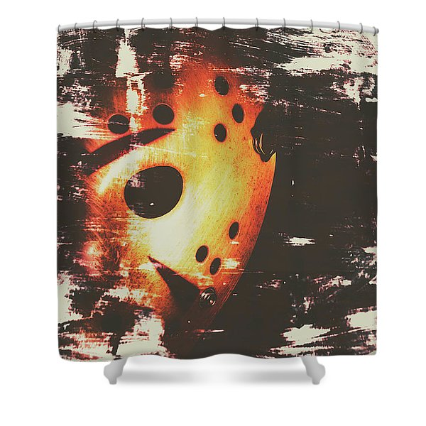 Terror On The Ice Shower Curtain