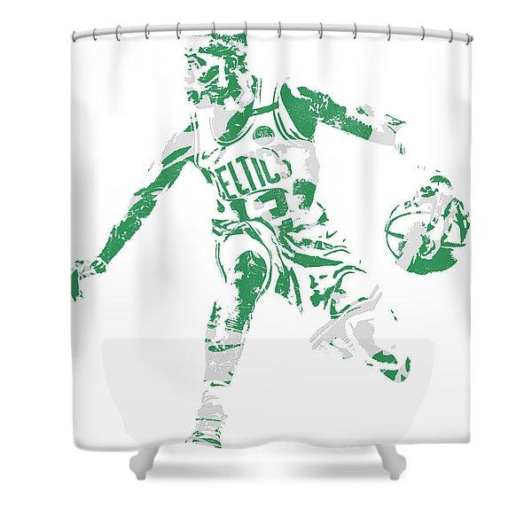 Terry Rozier Boston Celtics Pixel Art 13 Shower Curtain