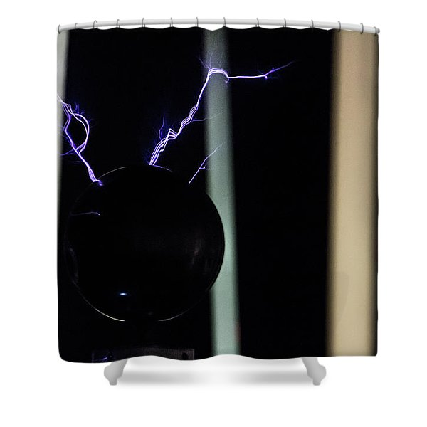 Tesla Coil 5 Shower Curtain