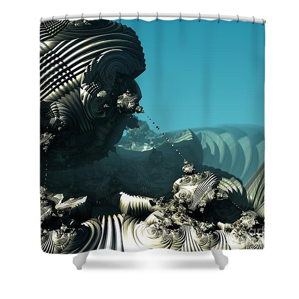 Tethered Shower Curtain