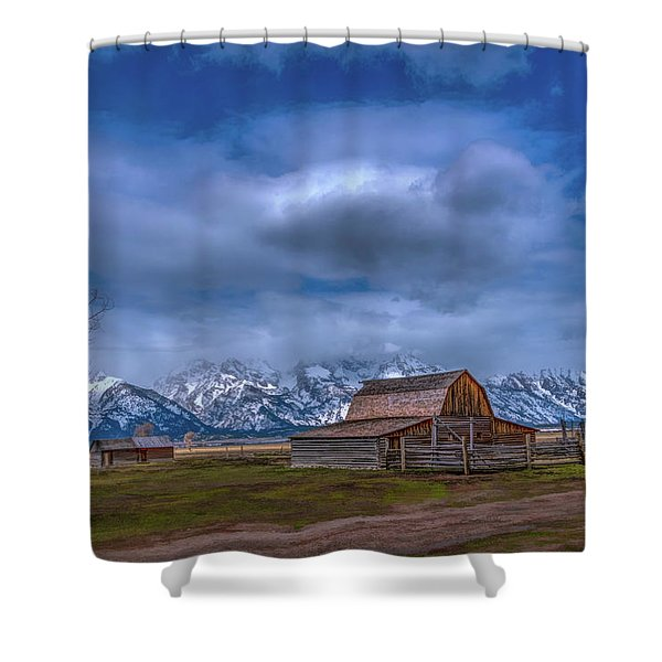 Teton National Park Mormon Row Shower Curtain
