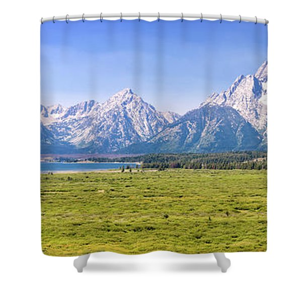 Teton Panorama Shower Curtain