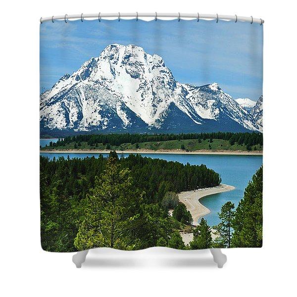 Teton Spring Shower Curtain
