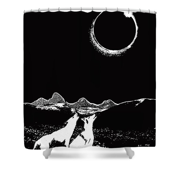 Teton Total Solar Eclipse Shower Curtain