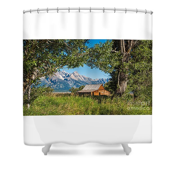 Tetons And Moulton Barn Shower Curtain