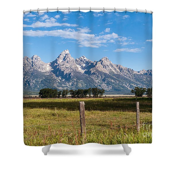 Tetons From Mormon Row Shower Curtain