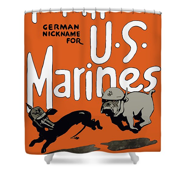 Teufel Hunden - German Nickname For Us Marines Shower Curtain