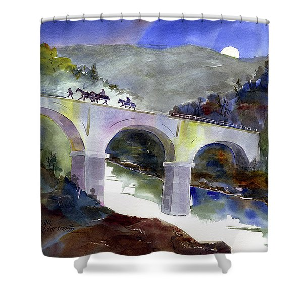 Tevis Crossing 3am Shower Curtain