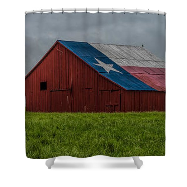 Texas Barn Panorama Shower Curtain