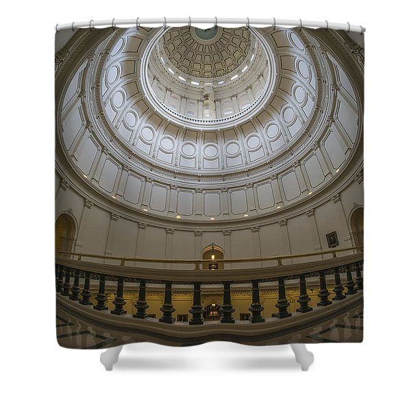 Texas Capitol Dome Wide Angle Shower Curtain