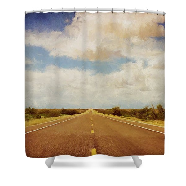 Texas Highway Shower Curtain