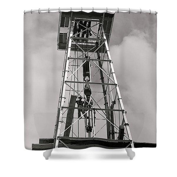 Texas Oil Derrick 1939 Shower Curtain