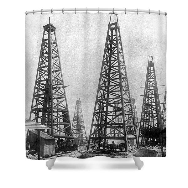 Texas: Oil Derricks, C1901 Shower Curtain
