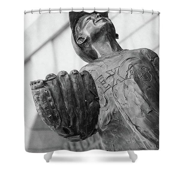 Texas Rangers Little Boy Statue Shower Curtain