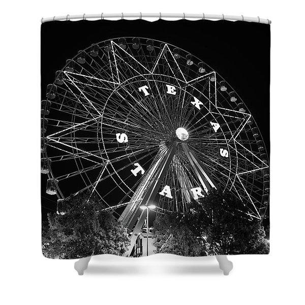 Texas Star 061116 V2bw Shower Curtain
