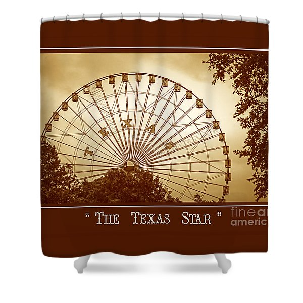 Texas Star In Gold Shower Curtain